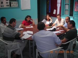 Rencontre entre les associations Twiza, Lekaa et Asmae à Khemisset en 2007.